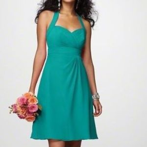 Alfred Angelo teal bridesmaid/ prom dress